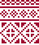 Ethnic seamless pattern in red and white colors. Stock Images