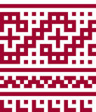 Ethnic seamless pattern in red and white colors. Stock Image