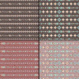 Ethnic seamless pattern set. Geometric seamless pattern set. Aztec abstract backgrounds. Ethnic vector ornaments Stock Images