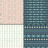 Ethnic seamless pattern set. Geometric seamless pattern set. Aztec abstract backgrounds. Ethnic vector ornaments vector illustration