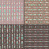 Ethnic seamless pattern set. Geometric seamless pattern set. Aztec abstract backgrounds. Ethnic vector ornaments Royalty Free Stock Images