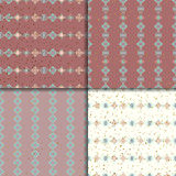 Ethnic seamless pattern set. Geometric seamless pattern set. Aztec abstract backgrounds. Ethnic vector ornaments royalty free illustration
