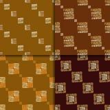Ethnic seamless pattern set Royalty Free Stock Photos