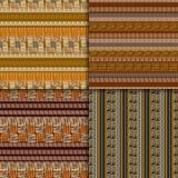 Ethnic seamless pattern set Royalty Free Stock Images