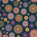 Ethnic seamless pattern of stylized circle. Colorful ethnic seamless pattern of stylized circle Royalty Free Stock Images