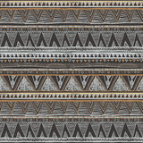 Ethnic seamless pattern. Tribal art boho print, abstract ornament. Background texture, decoration. Ethnic seamless vector grey Royalty Free Stock Photo