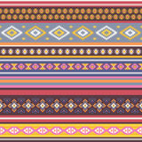 Ethnic  seamless pattern with tribal aztec motives. Stock Image