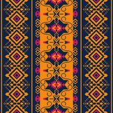Ethnic seamless pattern. Tribal kilim. Aztec, Mexican, Boho, native fabric stock illustration