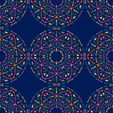 Ethnic seamless pattern with tribal ornaments. Boho geometrical pattern. Bright colors royalty free illustration