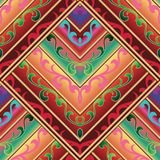 Ethnic seamless pattern. Vector colorful background in aztec. Ethnic seamless pattern. Vector colorful background in aztec stile. Geometric tribe tiled Royalty Free Stock Photo