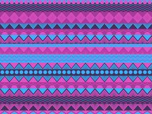 Ethnic seamless pattern, violet and blue color. Tribal textiles, hippie style. For wallpaper, bed linen, tiles, fabrics stock illustration