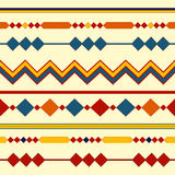 Ethnic seamless patterns. Tribal geometric backgrounds. Modern abstract wallpaper. Vector illustration. Stock Images
