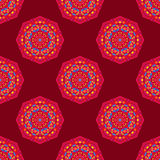 Ethnic seamless round pattern with triangles Stock Photography