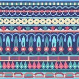 Ethnic seamless stripe pattern. Vector illustration for your cute design. Borders and frames. Stock Photography
