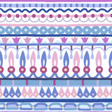 Ethnic seamless stripe pattern. Vector illustration for your cute design. Borders and frames. Royalty Free Stock Image