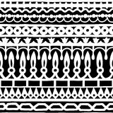 Ethnic seamless stripe pattern. Vector illustration for your cute design. Borders and frames. Stock Photo