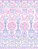 Ethnic seamless stripe pattern. Vector illustration for your cute design. Borders and frames Stock Image