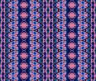 Ethnic seamless striped pattern. Vector background in blue and pink tones. Print for fabric Royalty Free Stock Photo