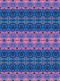 Ethnic seamless striped pattern. Vector background in blue and pink tones. Print for fabric. Wrapping Stock Photo