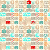 Ethnic seamless texture in african style Stock Image
