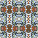 Ethnic seamless tribal pattern. Print for fabric in vector royalty free illustration