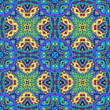 Ethnic seamless vector pattern ornamental. Festive Colorful seamless vector pattern ornamental. Geometric print Stock Image