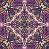 Ethnic seamless vector pattern ornamental. Vector Tribal indian vintage ethnic seamless design. Festive colorful mandala pattern Royalty Free Stock Image
