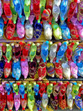 Ethnic shoes stock photography