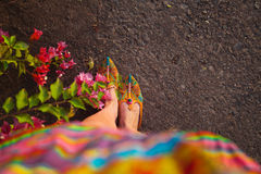 Ethnic shoes Royalty Free Stock Photography