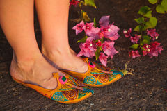 Ethnic shoes Stock Images
