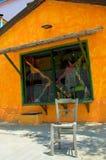 Ethnic shop house. Athos, Halkidiki, Greece Stock Image