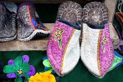 Ethnic slippers Royalty Free Stock Photos