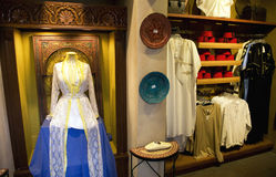 Ethnic Store. An ethnic clothing store in Morocco Stock Images