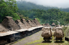 Ethnic straw village in Indonesia Stock Photo