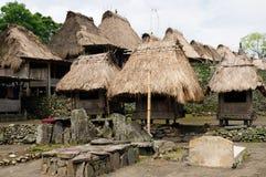 Ethnic straw village Stock Images