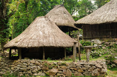 Ethnic straw village on an Timor island Royalty Free Stock Image