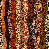 Ethnic strikes pattern in brown colors Royalty Free Stock Image
