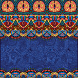 Ethnic stripe ornament on floral background Stock Image