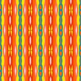 Ethnic striped pattern with Mexican motifs Stock Photography