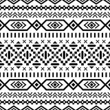 Ethnic striped seamless pattern. Royalty Free Stock Images