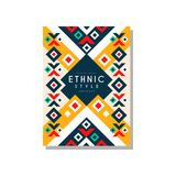 Ethnic style abstract design template, ethno tribal geometric ornament, trendy pattern element for business card, logo. Invitation, flyer, poster, banner Royalty Free Stock Image