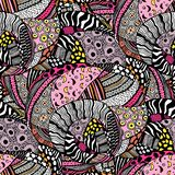 Ethnic style fashion African seamless pattern. royalty free illustration