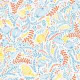 Ethnic style floral colorful seamless pattern Royalty Free Stock Image