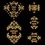 Ethnic Style Gold Symbol 1 Stock Image