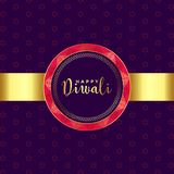 Ethnic style happy diwali golden background. Vector royalty free illustration