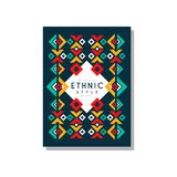Ethnic style original, colorful ethno tribal geometric ornament, trendy pattern element for business card, logo. Invitation, flyer, poster, banner vector Royalty Free Stock Photography