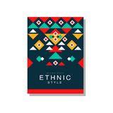 Ethnic style original design, ethno tribal geometric design ornament, trendy pattern element for business card, logo. Invitation, flyer, poster, banner vector Stock Photos