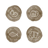 Ethnic Style Round Badges Royalty Free Stock Photography