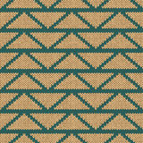 Ethnic Seamless Knitted Pattern Royalty Free Stock Photos