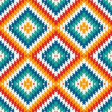 Ethnic style seamless pattern with chevron lines. Native americans ornament. Tribal motif. Colorful mosaic wallpaper. Ethnic style seamless pattern with chevron royalty free illustration